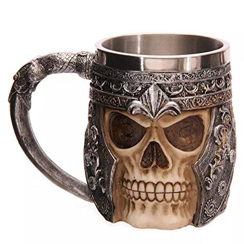 Anself Tassen Totenkopf Krug Totenkopf Skull Mug aus Edelstahl