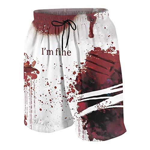 Harry wang Pantalon de Plage IM Fine Youngster Beach à séchage Rapide, Respirant et léger avec Poches, XXL