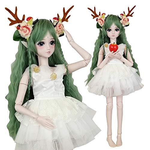 EVA BJD verde Cervi 1/3 BJD Doll Spirito Demon Girl 24inch 60 centimetri 19 sfera snodato bambole giocattolo regalo Baby Doll