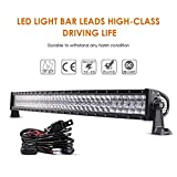"Auxbeam 42"" LED Light Bar 240W LED Work Light Off Road Lights Spot Flood Combo Beam 80pcs3W Curved 5D Lens for Car Jeep SUV UTV ATV Pickup Truck with Wiring Harness"