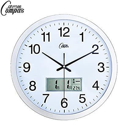 CGGGHY Modern Living Room Mute Wall Clock Creative Clock Living Room Wall Chart Continental Bedroom Mute