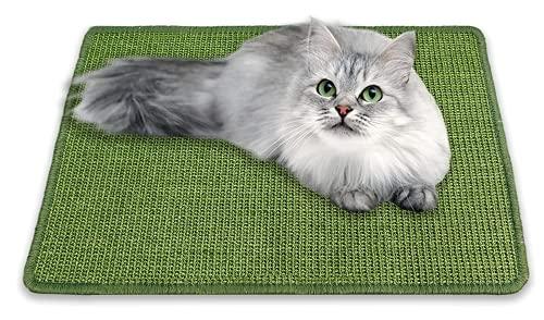 Tappetino tiragraffi per gatti, resistente e naturale, in sisal, per gatti orizzontali, per proteggere tappeti e divani, 40 cm, 60 cm, colore: verde