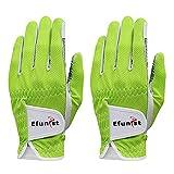 Sdvklly 2 pcs Golf Gloves Hombres Mano Izquierda Verde Negro 3D Rendimiento Malla Antideslizante Micro Fibra Hombre Golf (Color : Worn On Left Hand B, Size : 27 XX Large)