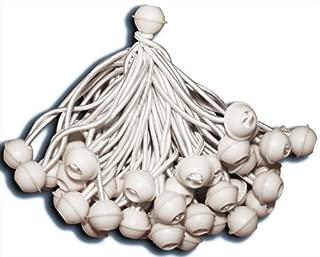 KMH®, 50 Zeltgummis/Spanngummis mit Kugel - ideal für Partyzelte (#303025)
