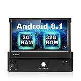 Android Autoradio 1 Din GPS Navigation Stereo Podofo Standard 2G / 32G da 7 pollici Touchscreen pieghevole Bluetooth WiFi Mirror Link per telefono Android IOS FM Radio AUX/USB + Telecamera posteriore