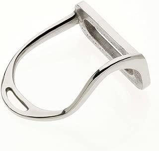Lorina Bent Leg Safety Stirrup Irons 5 in Silver