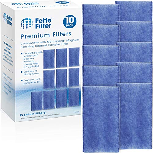 Fette Filter - 10 Pack Polishing Internal Canister Filter Compatible with MarineLand Magnum Polishing Internal Filter JH Cartridge