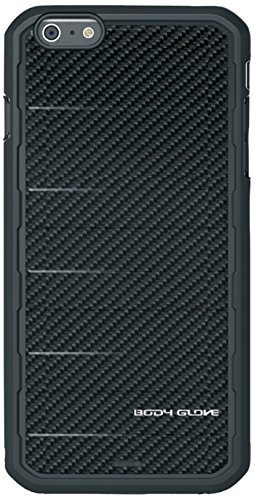Body Glove Rise Case for iPhone 6 Plus - Retail Packaging - Black Carbon Fiber