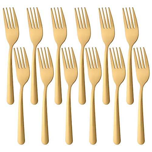 BUY&USE 6.3-Inch Dinner Forks Salad Forks Tea Fork Set Cutlery Pack of 12 Stainless steel