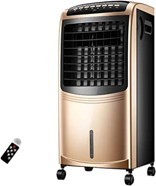 Portable Powerful Digital Evaporative Air Fan Cooler AC W Remote Control & LED Display, 6.5L Tank - 80W - Anti Dust Filter - 3 Speed Settings - 90° Oscillating Swing Function 7.5 Hour Timer