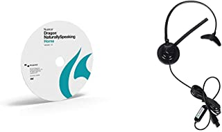 Dragon NaturallySpeaking Home 13, Disc Only with Nuance Dragon USB Headset
