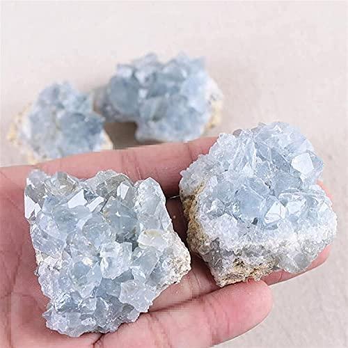 Cristal Curativo Piedras Preciosas Espécimen Irregular Artesanía Decoración de Joyas Terapia de Cristal Clúster de Cristal Azul Natural Material de Piedra cruda Cristales curativos de Cuarzo LIOYU