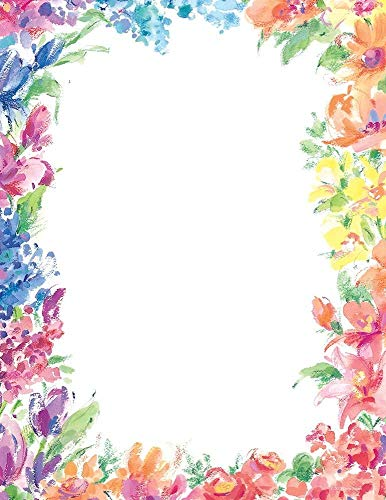 Great Papers! Bright Floral Letterhead, 80 Count, 8.5'x11' (2014333)