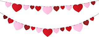Felt Heart Banner Garland No DIY for Mother's Day Wedding Party Classroom Decoration