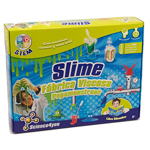 Science4you - Fábrica de los Pegamonstruos - Slime - Juguete Científico y Educativo