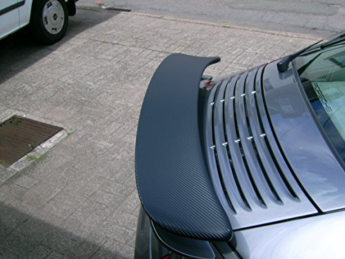 DaHici, 3M Carbonfolie schwarz 152cmx15cm + GRATIS 3M Rakel mit Filzkant, z.Bsp. für Ladekante, Spoiler,NEUE SERIE VON 3M FÜR DIE FAHRZEUGVOLLVERKLEBUNG Scotchcal 2080, 3D verformbar mit Luftkanäle