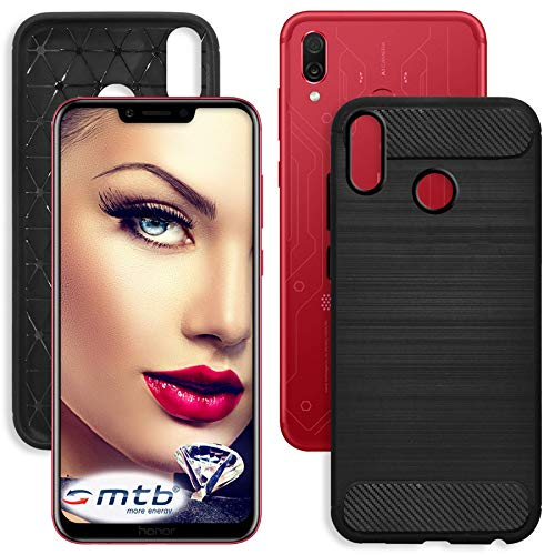 mtb more energy® Funda TPU Carbono para Honor Play (6.3'') - Negro...