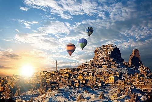 ARTF Partition Papier Weiße Karte Kinder 1000 Stück Upgrade-Version Türkei Luftballon Bild Adult Puzzle ≥ 14 Jahre alt Freizeit Weihnachten Puzzle 1000 Gradient Jigsaw Marvel Geschenke for Familie