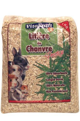 Vitakraft Prestige 82501 Hanfstreu für kleine Haustiere, 1 kg / 10 l