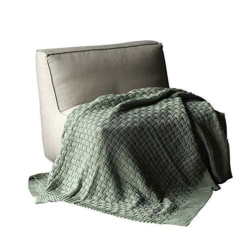 ZzheHou Manta Couch Mantas for Todas Las Estaciones Sofá Sofá-Cama Cama de la habitación Decorativo Manta Lanza (Color : Verde, Size : 120x180cm)