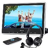 NAVISKAUTO 10,1' DVD Player für Auto HDMI In Tragbarer DVD Player Slot In 1080P HD 1024 * 600 Memory USB SD AV In/Out 12V mit Kopfstützenhalterung/Kopfhörer