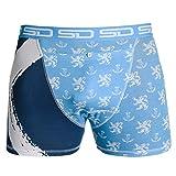 Smuggling Duds Men's Stash Boxer Brief Shorts - Pickpocket Proof Travel Secret Pocket Underwear L Premier Battles