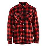 Blakläder 322511315699S - Camicia Foderata in Flanella, Taglia S, Colore: Rosso/Nero