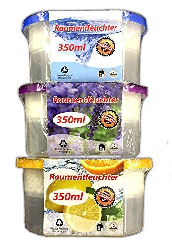 3er Set Raumentfeuchter mit Duft Granulat Luftentfeuchter Lufttrockner Box Deo