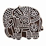 Handgefertigte Holzdrucktype Dekorative Elefant-Entwurf