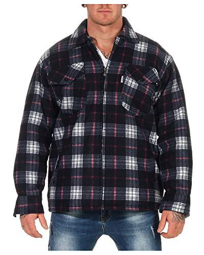 ZARMEXX Camicia Termica da Uomo Giacca da Boscaiolo Scozzese Giacca da Lavoro Giacca in Flanella A Quadri Calda e Morbida