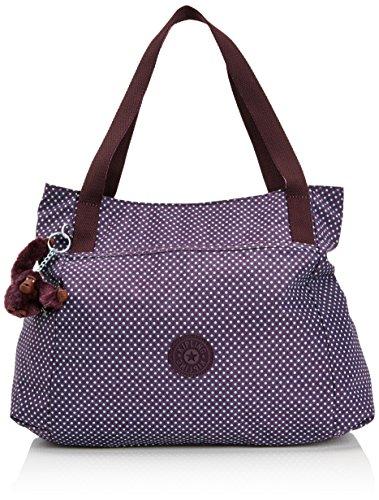 Kipling Damen PRAVIA Schultertaschen, Violett (Small Dot Pr Au), 41x32x11 cm