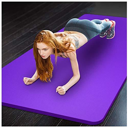 Estera de Yoga Antideslizante Gruesa Colchón Yoga Estera de TPE para Yoga - Pilates Mat - Eco Amistoso Mat,para Pilates Ejercicios Fitness Gimnasia Estiramientos 185 * 66 * 1CM