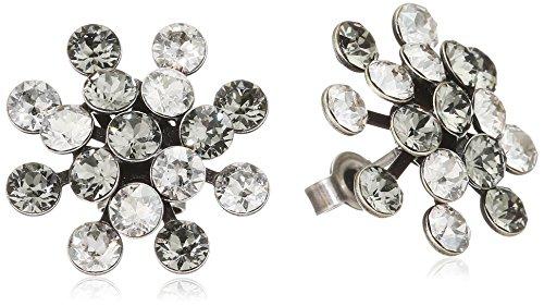 Konplott Damen-Ohrstecker Magic Fireball Messing Glas weiß - 5450527778367