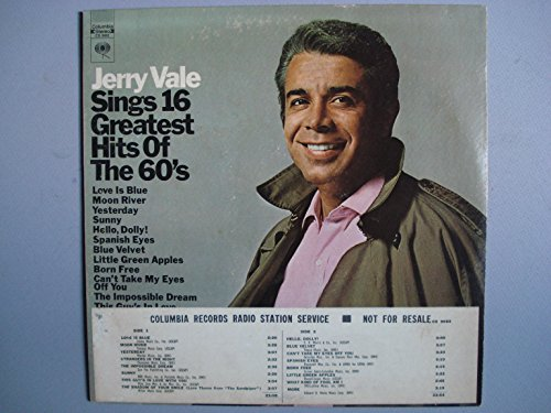 Jerry Vale Sings 16 Greatest Hits of the 60's