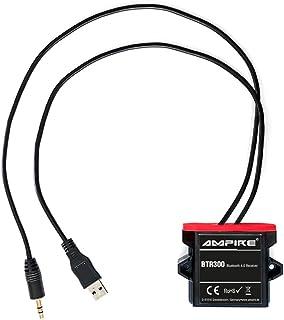 AMPIRE BTR300 universal Bluetooth Adapter zum Musikstreaming mit Auto Remote (wasserdicht, 3,5mm Klinke + USB) perfekt für Kfz/Auto/Home Hi Fi/Boot/Marine