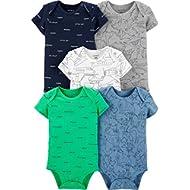 Carter's Baby Boys 5 Pack Bodysuit Set