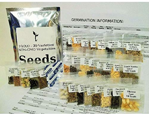13400 Seed 33 Fruit/Vegetable Variety Pack Non-GMO Heirloom Home Bank Lot
