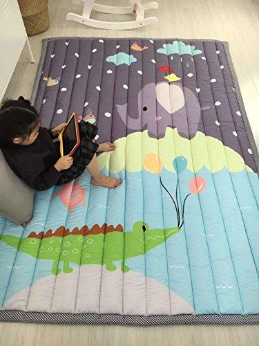 Zinsale® Grande Addensare Baby Playmat cotone Palestra del pavimento Asilo nido Pad attività Tappeto strisciante (Zoo)