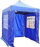 All Seasons Gazebos, 2x2m Fully Waterproof, Heavy Duty Pop up Gazebo With 4 Side Panels. In Multiple Colours (Royal Blue)