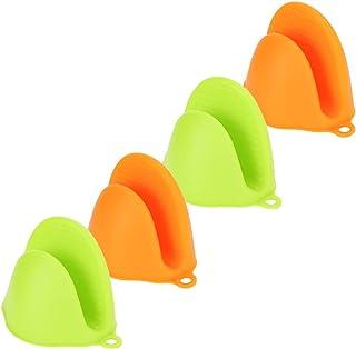Guantes de silicona para horno, 4 Piezas Protección de Dedos para Cocina para Sacar el Cuenco de la Placa Caliente