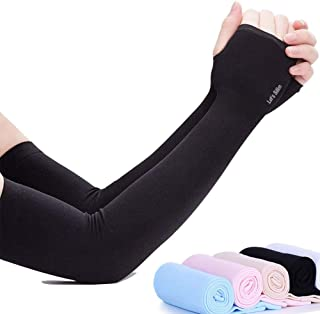 PrimeDay UV Sun Protection Arm Sleeves Ice Cool Arm Cover Sleeves for Men & Women - UPF 50 Cooling Compression Arm Cover S...