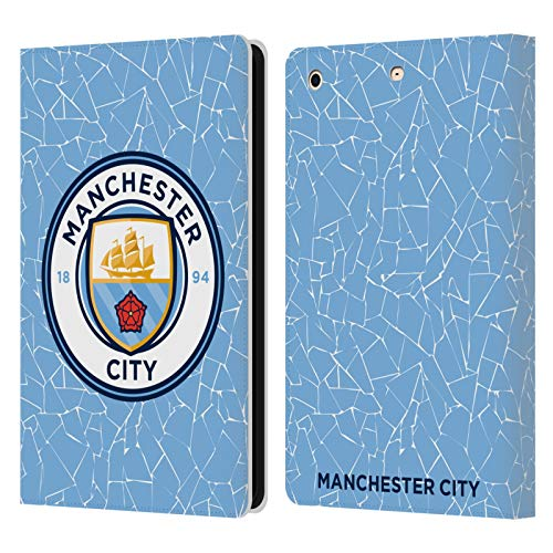 Official Manchester City Man City FC Home 2020/21 Badge Kit Leather Book Wallet Case Cover Compatible For Apple iPad mini 1 / mini 2 / mini 3