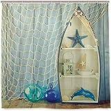 N/X Duschvorhang Boot Steht an der Wand Andere aquatische Objekte Meer Ausgewählte Bild Duschvorhang