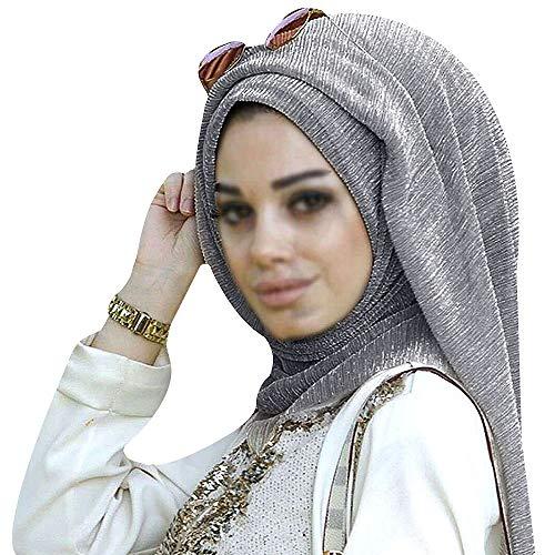 Millya muslimisches Damen-Kopftuch aus Baumwolle, mit Strasssteinen, langer Hijab-Schal, arabisch, islamisch, übergroßer Schal Gr. Einheitsgröße, 02842 Pic1