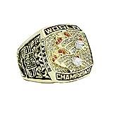WSTYY Anillo de Campeonato Anillo de Oro del Campeonato Denver Broncos 1998 Anillo de Campeonato para Hombres de Aficionados Memorial Collection,Without Box,10