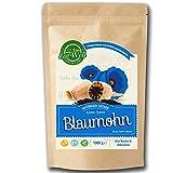Blaumohn (1kg) - Mohn ganz / Mohnsamen - Frei von Konservierungsstoffen I Rohkostqualität zum Backen und Kochen I Premium Qualität I Eat Well Premium Foods