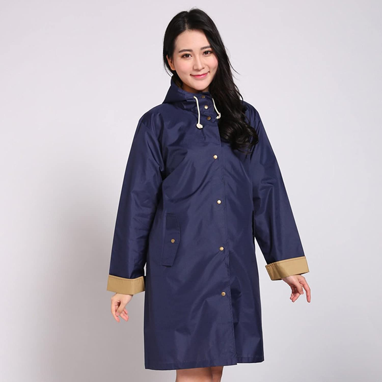 QFFL Raincoat Fashion Breathable Waterproof Raincoat Mountaineering Walk Poncho Adult Long Hiking Raincoat Jacket 3 color Optional M rain Poncho (color   C)