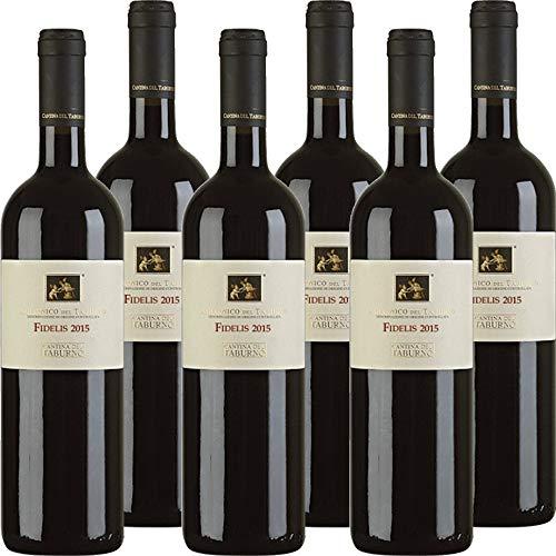 Fidelis Dop | Vino Aglianico del Taburno | Vino Rosso | Cantina del Taburno | Confezione 6 Bottiglie da 75 Cl | Idea Regalo