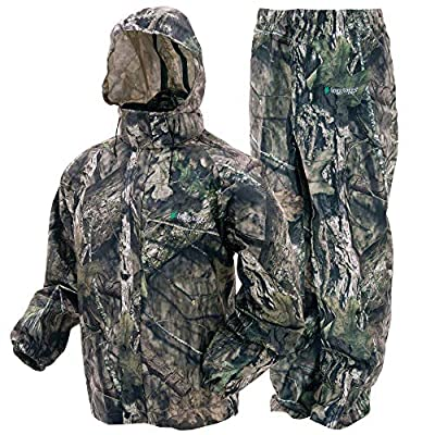 FROGG TOGGS Men's Classic All-Sport Waterproof Breathable Rain Suit, Mossy Oak Break-up Country, X-Large from FROGG TOGGS