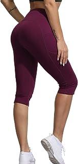 Uoohal High Waist Yoga Shorts Women Tummy Control Workout Running Athletic Soft Stretch Sports Short Pants